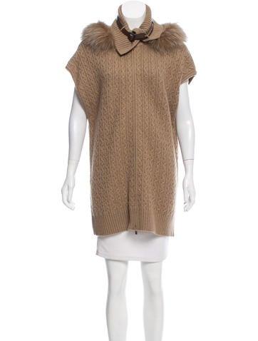 Loro Piana Fur-Trimmed Cashmere Vest None