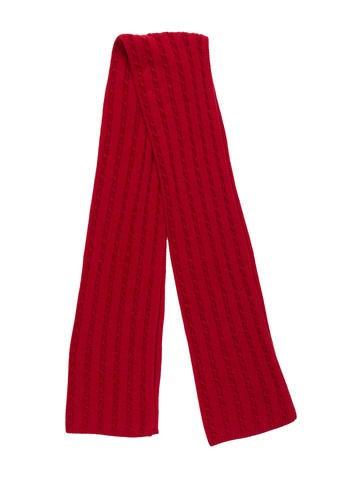 Loro Piana Cashmere Cable Knit Scarf None