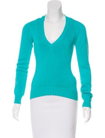 Loro Piana V-Neck Long Sleeve Sweater None