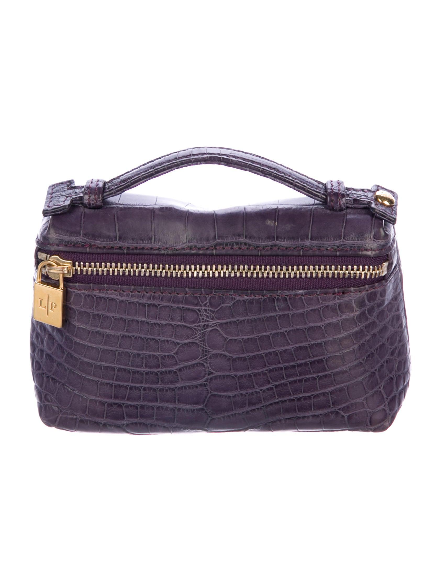 Loro Piana Crocodile Mini Handle Bag