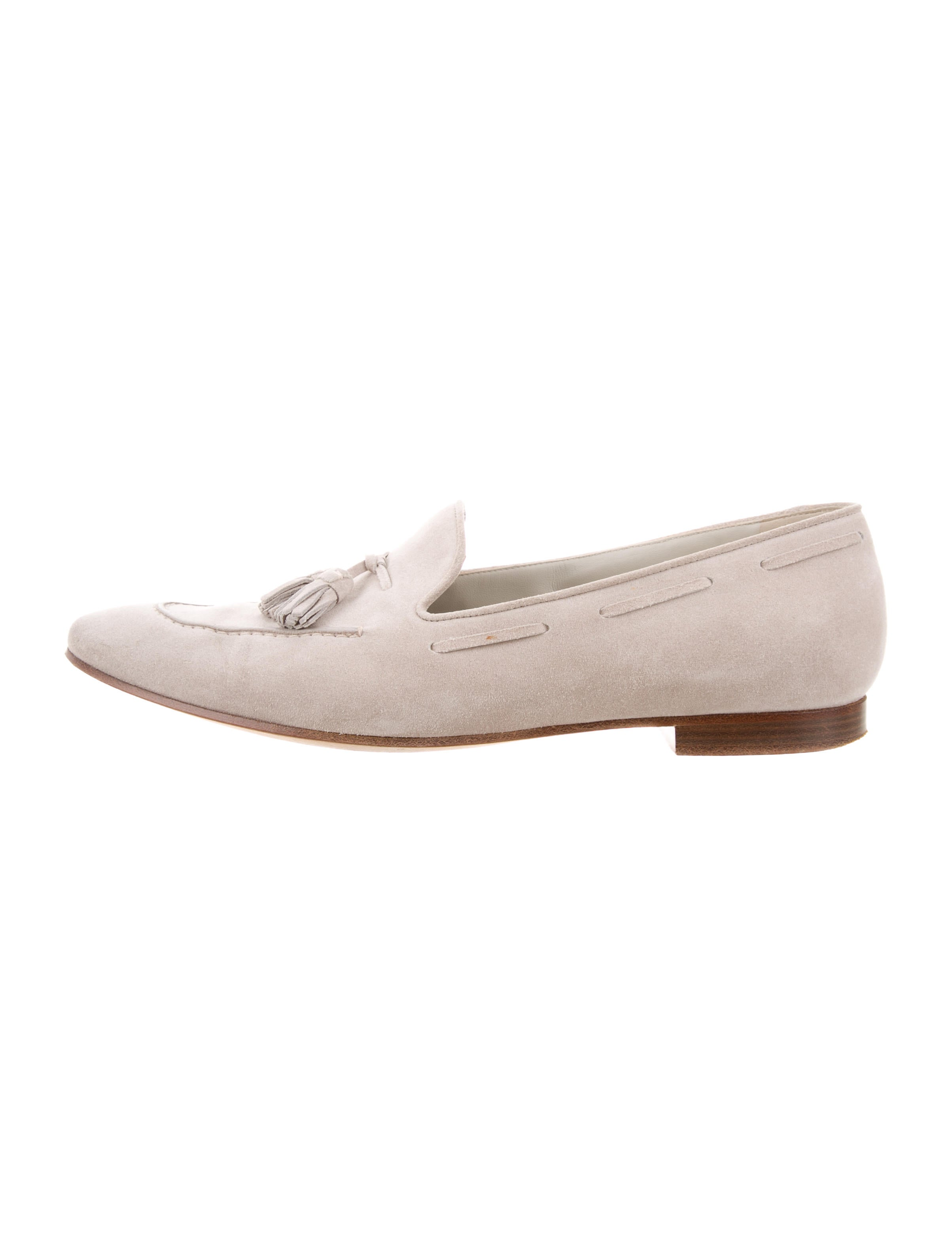72b8285d5ee Loro Piana Pointed-Toe Suede Loafers - Shoes - LOR44245
