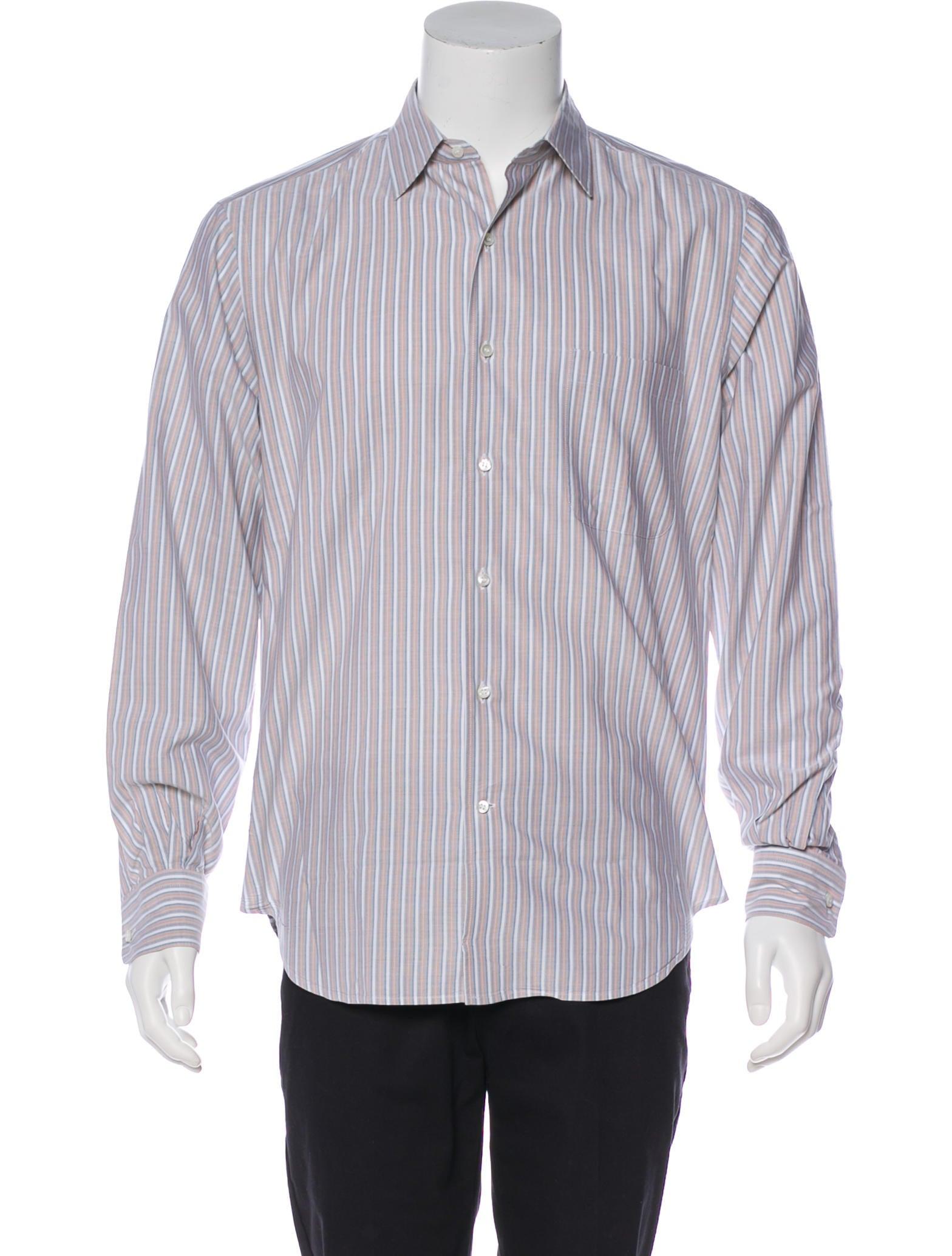 977ae00572f Orange And White Striped Dress Shirt - DREAMWORKS