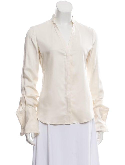 Loro Piana Silk Long Sleeve Blouse