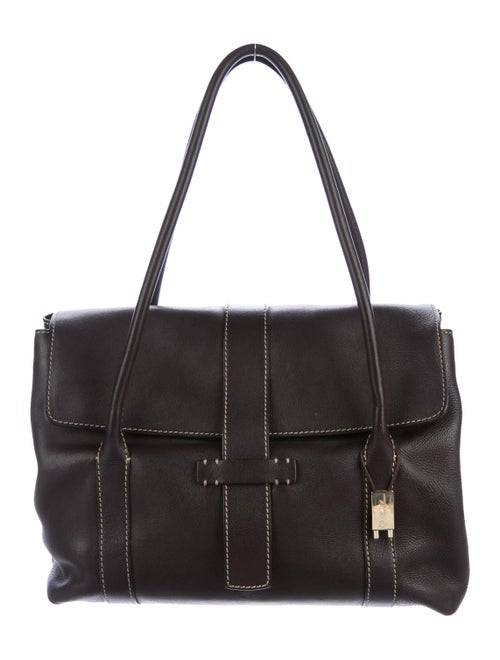 Loro Piana Leather Dandy Bag gold