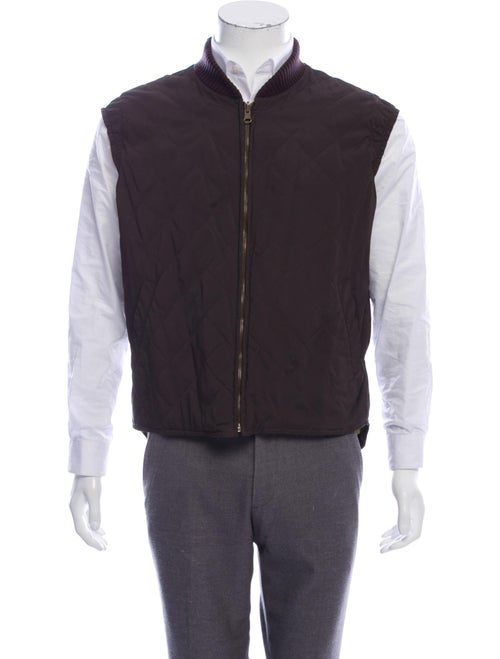 Loro Piana Quilted Field Vest brown