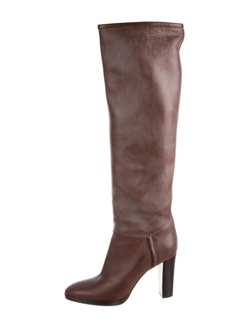 Loro Piana Leather Over-The-Knee Boots