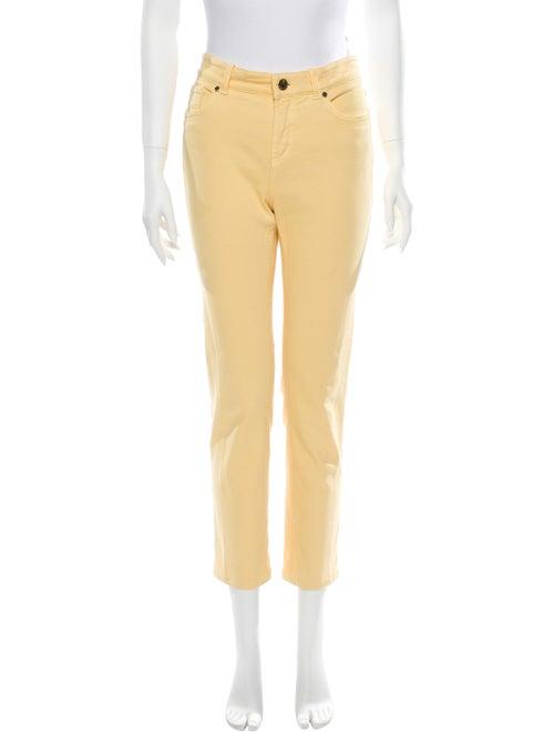 Loro Piana Mid-Rise Straight Leg Jeans Yellow