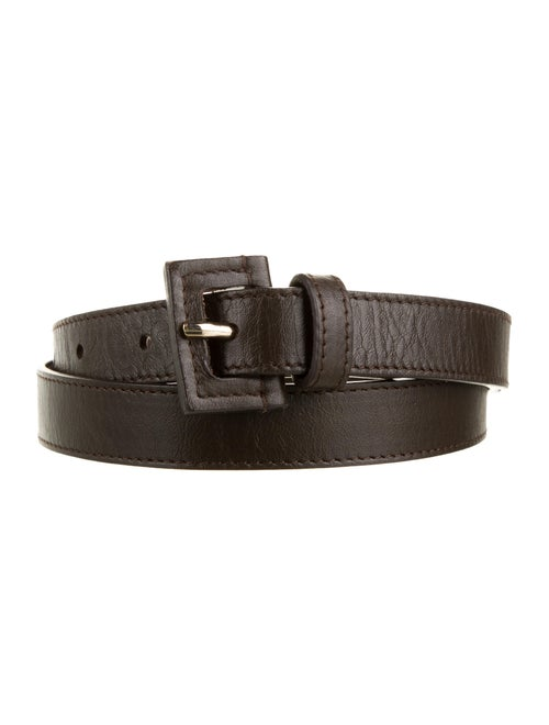 Loro Piana Leather Buckle Belt Brown