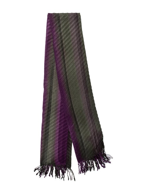Loro Piana Cashmere Fringe Scarf Purple