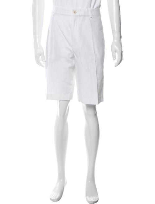 Loro Piana Flat Front Shorts White