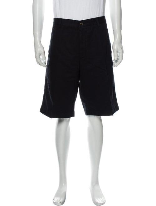Loro Piana Flat Front Shorts Blue