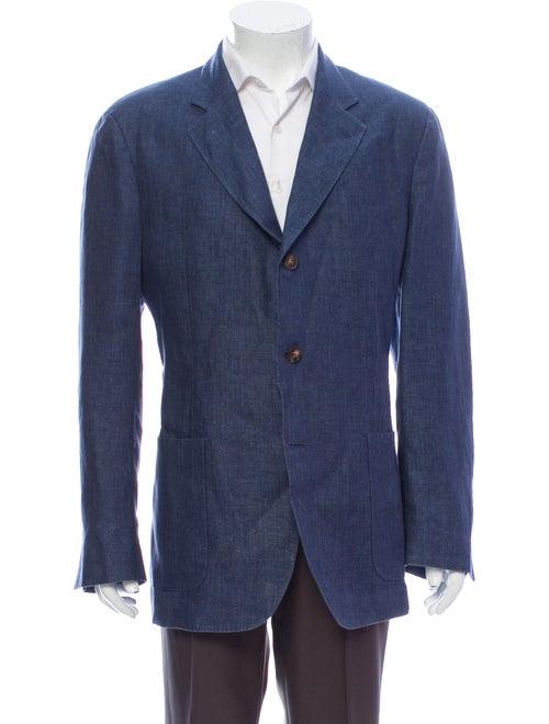 Loro Piana Linen Blazer Blue