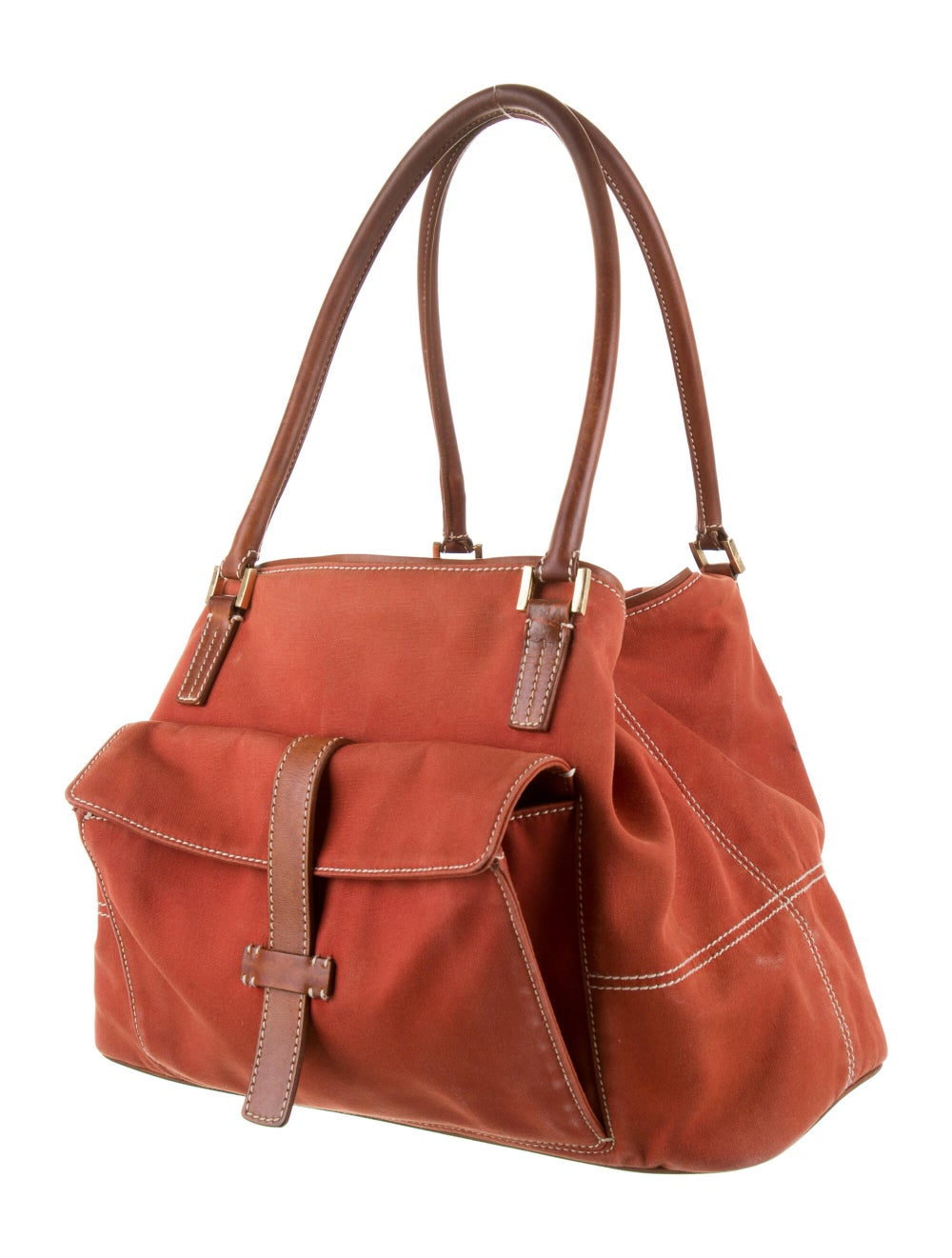 Loro Piana Globe Leather-Trimmed Tote Brown - image 3