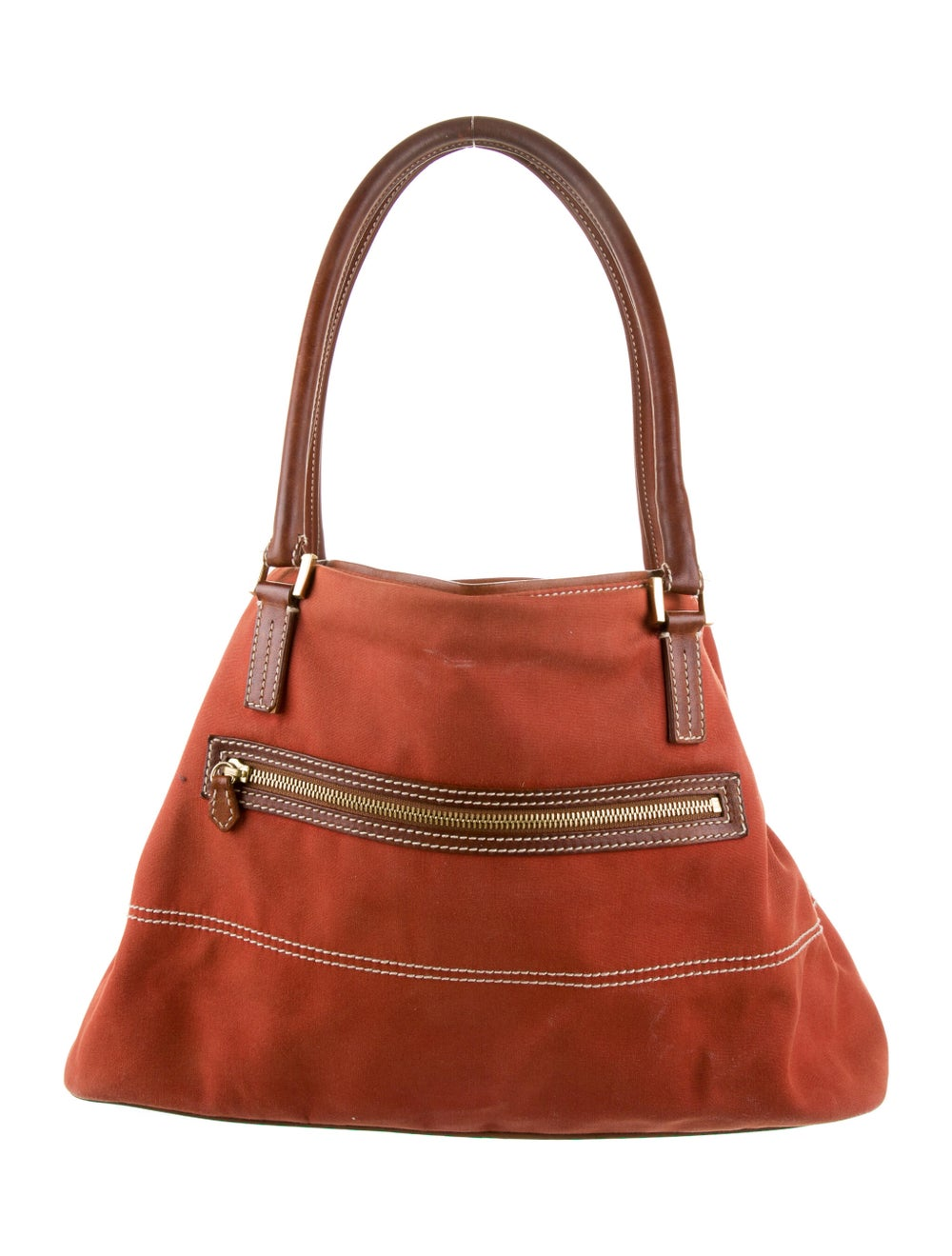 Loro Piana Globe Leather-Trimmed Tote Brown - image 4