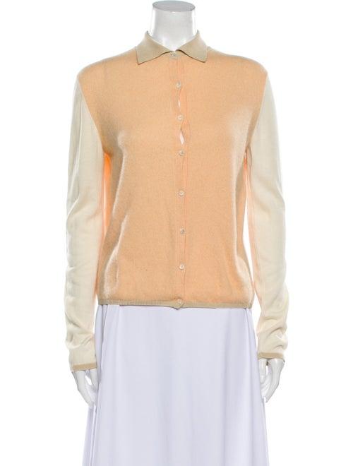 Loro Piana Cashmere Mock Neck Sweater Orange