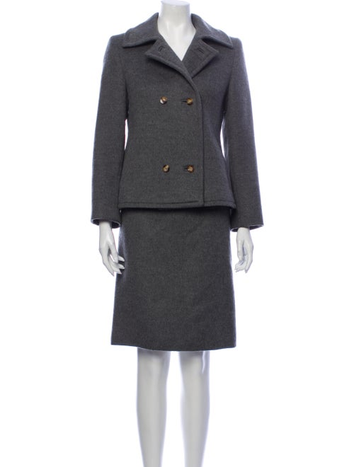 Loro Piana Cashmere Skirt Suit Grey