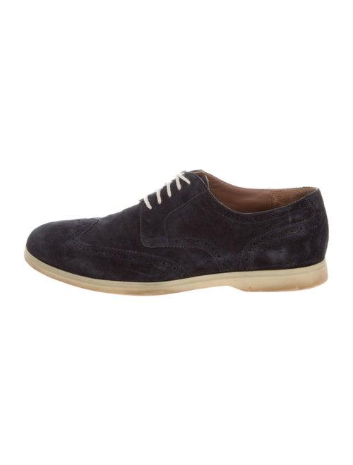Loro Piana Suede Derby Shoes Blue