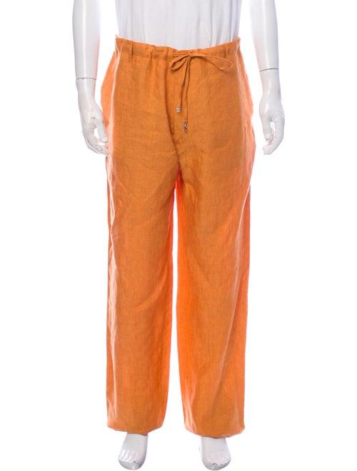 Loro Piana Linen Pants Orange