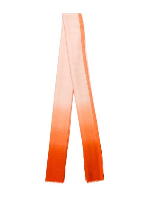 Loro Piana Printed Scarf Orange