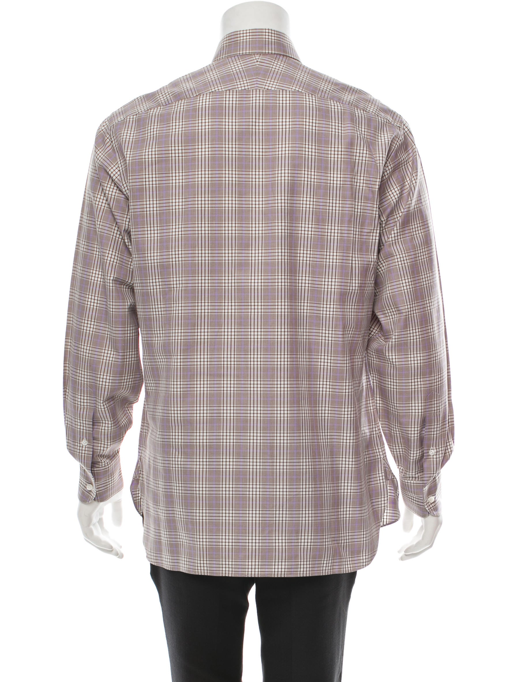 Lorenzini Long Sleeve Plaid Shirt Clothing Lornz20002