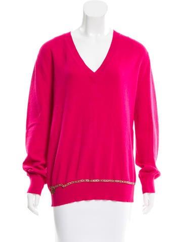 Louis Vuitton Cashmere V-Neck Sweater None