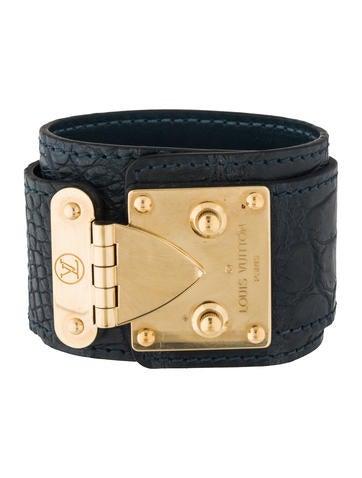 Louis Vuitton S Lock Crocodile Cuff Bracelet
