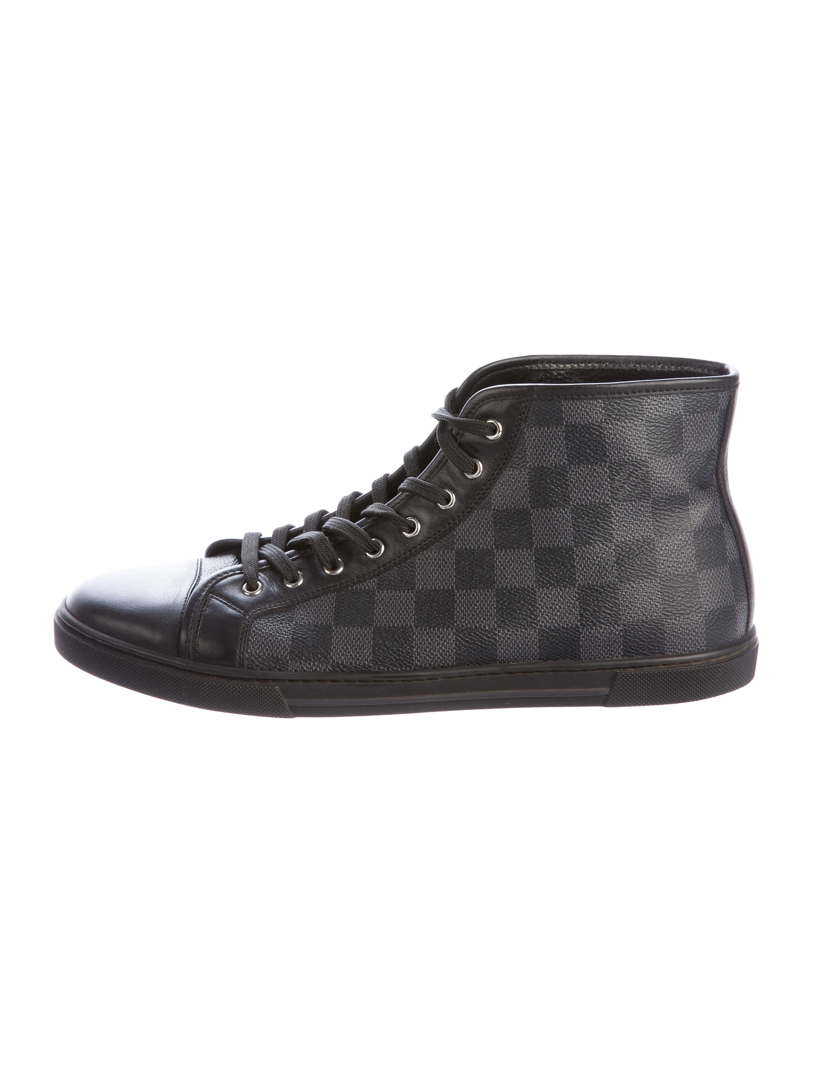 54402b012e4c Louis Vuitton Damier Ebene High-Top Sneakers - Shoes - LOU102224 ...