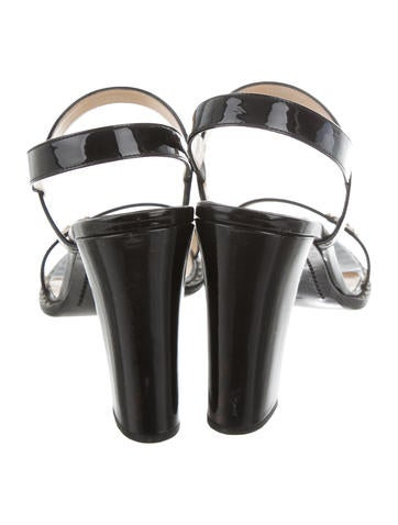 Patent Leather Slingback Sandals