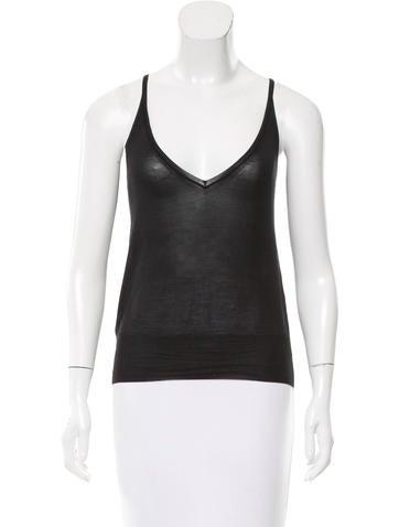 Louis Vuitton Silk Sleeveless Top None