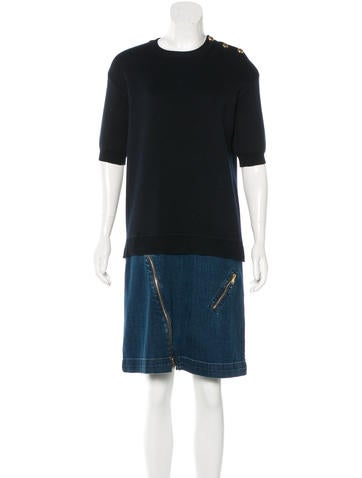 Louis Vuitton Wool Knee-Length Dress None