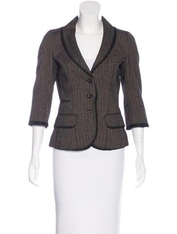 Striped Button-Up Blazer