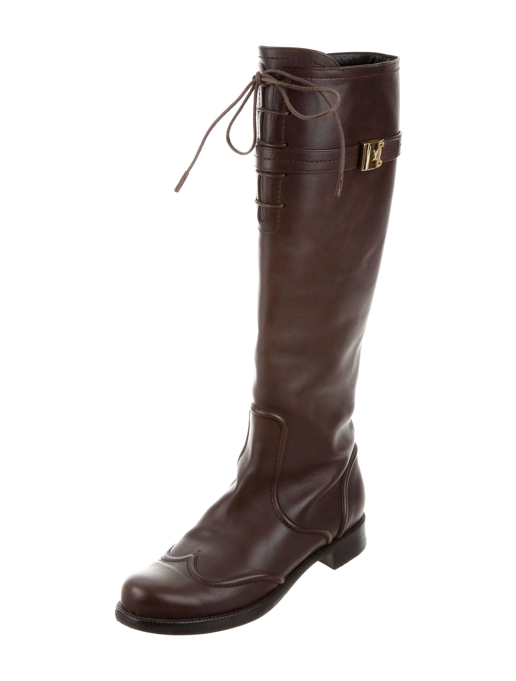louis vuitton leather knee high boots shoes lou104912