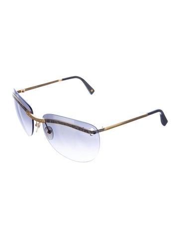 Embellished Rimless Sunglasses