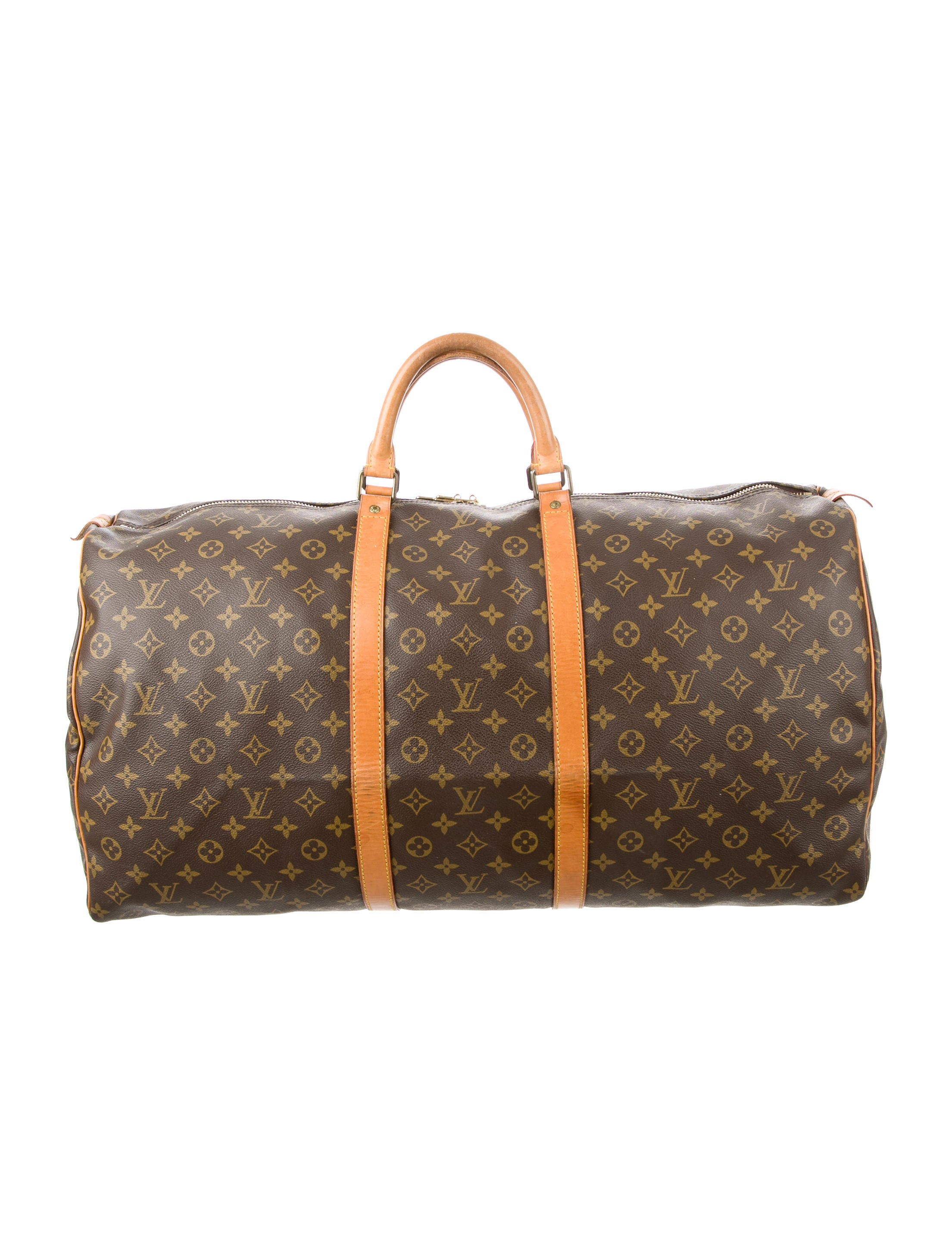 louis vuitton monogram keepall 50 handbags lou106463 the realreal. Black Bedroom Furniture Sets. Home Design Ideas