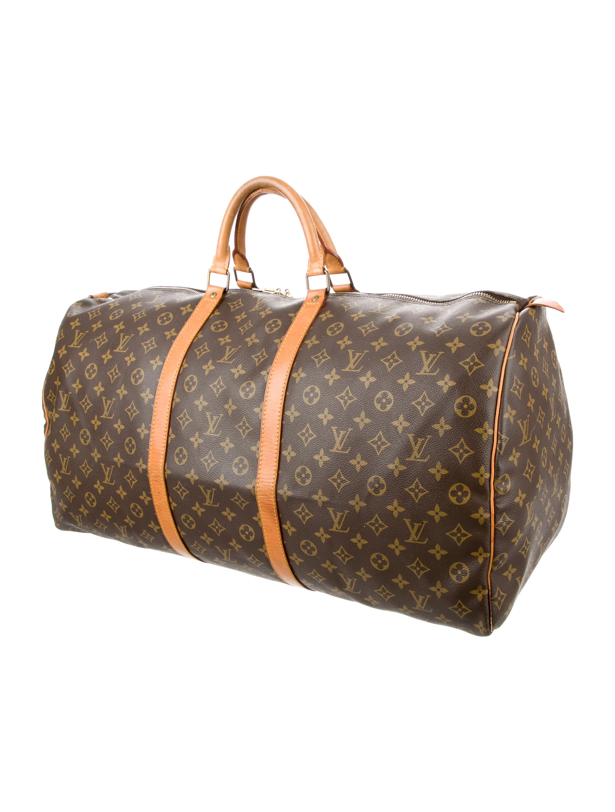 louis vuitton monogram keepall 50 handbags lou106480 the realreal. Black Bedroom Furniture Sets. Home Design Ideas