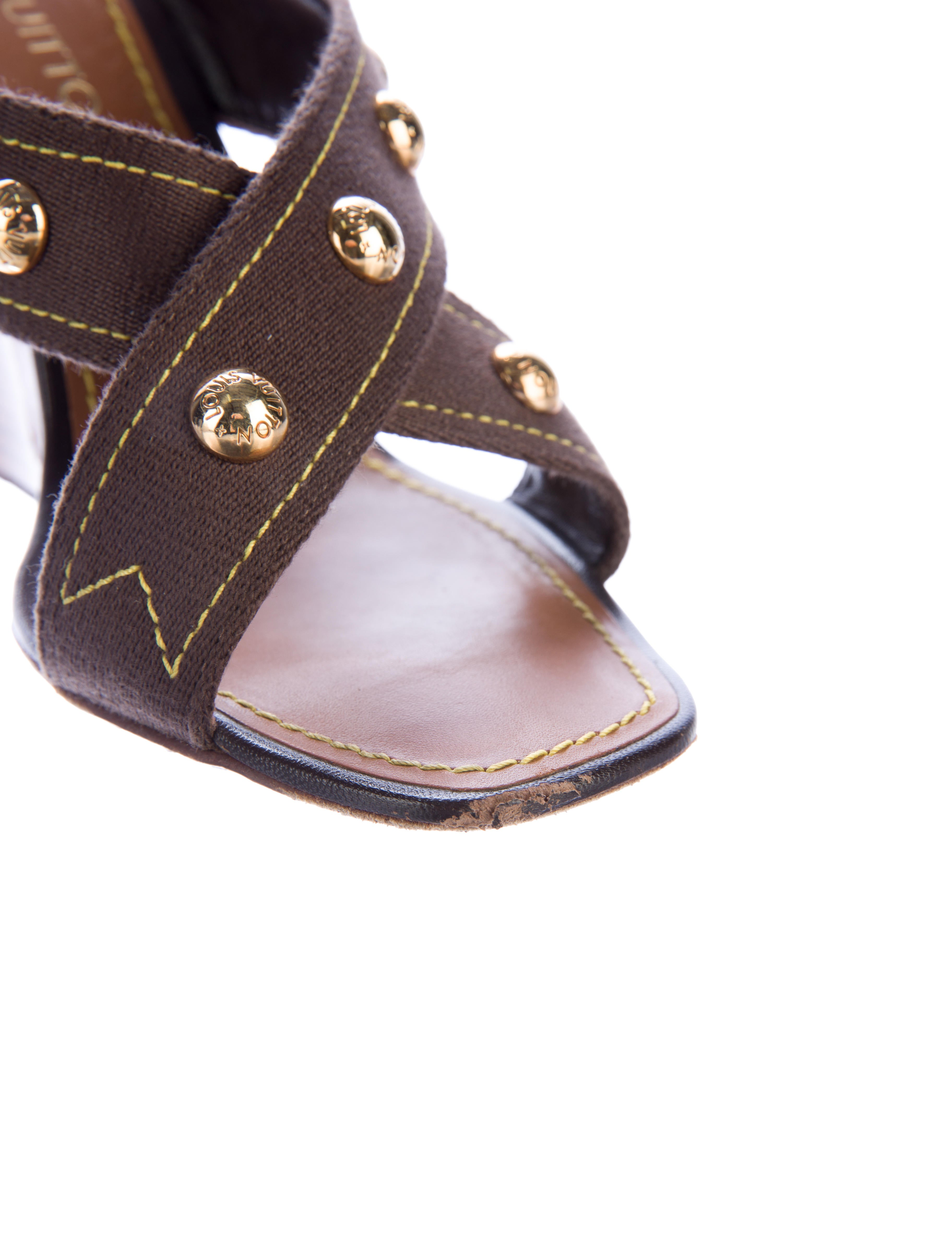 louis vuitton studded wedge sandals shoes lou106532
