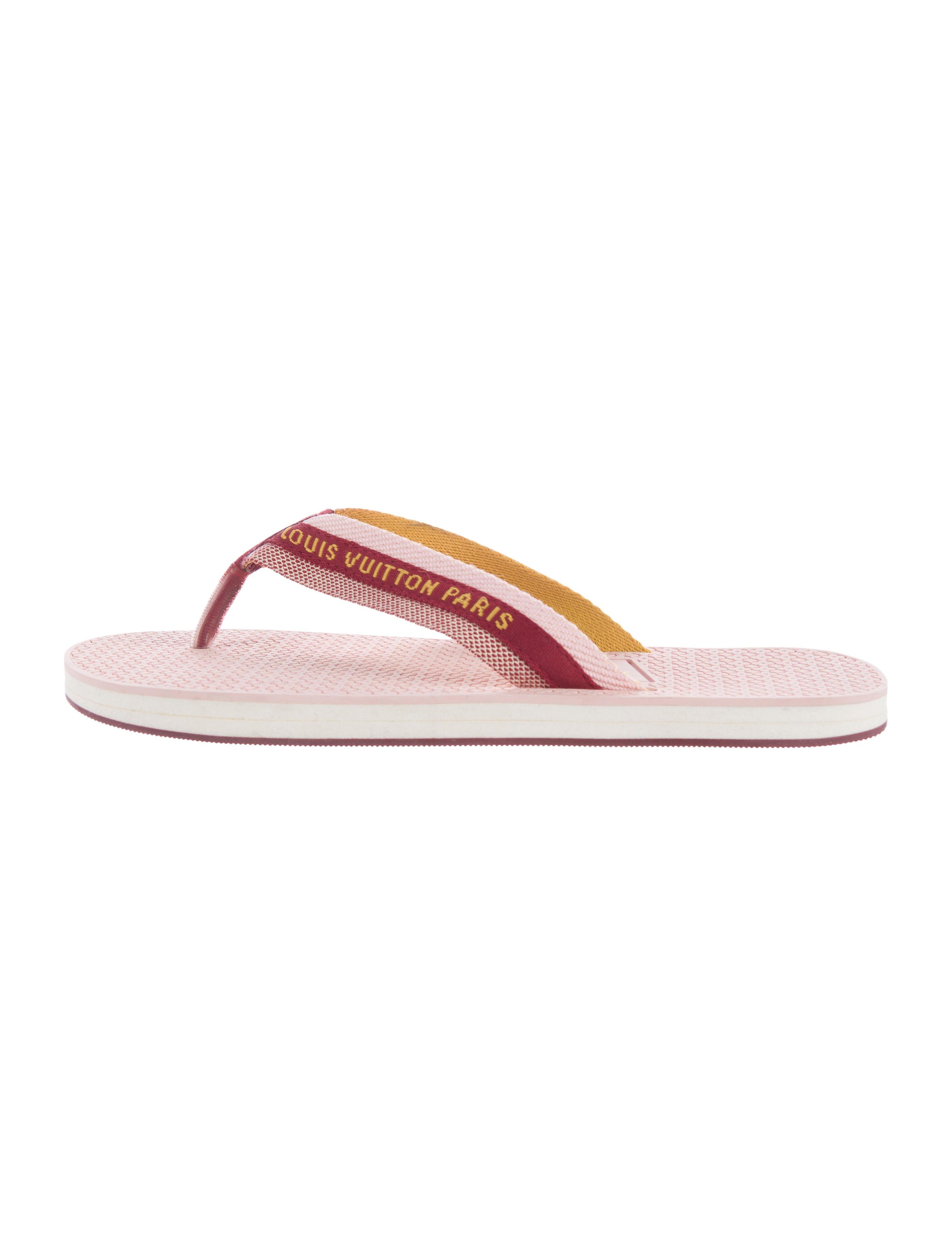 louis vuitton canvas slide sandals shoes lou106534