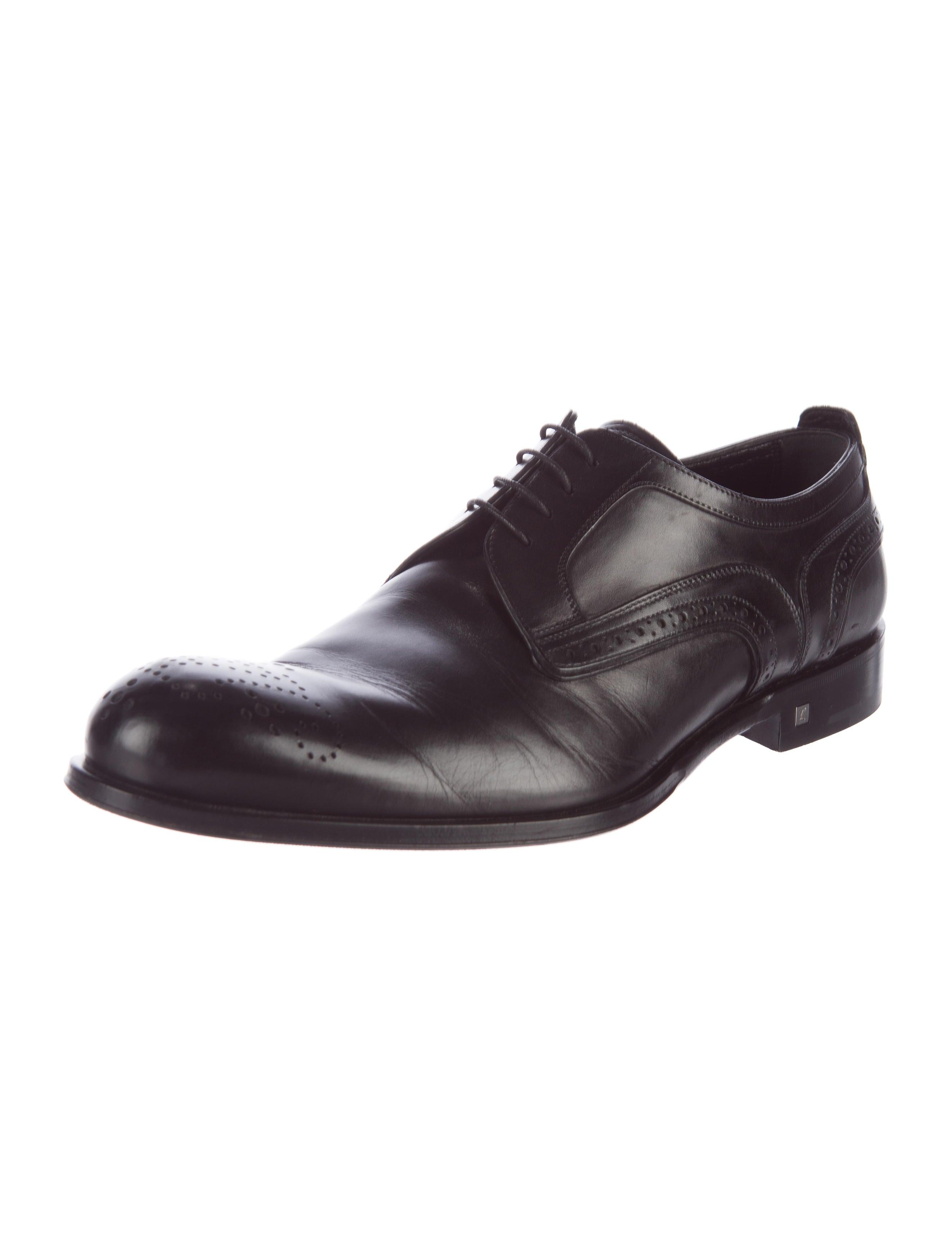 louis vuitton leather dress brogues shoes lou106961