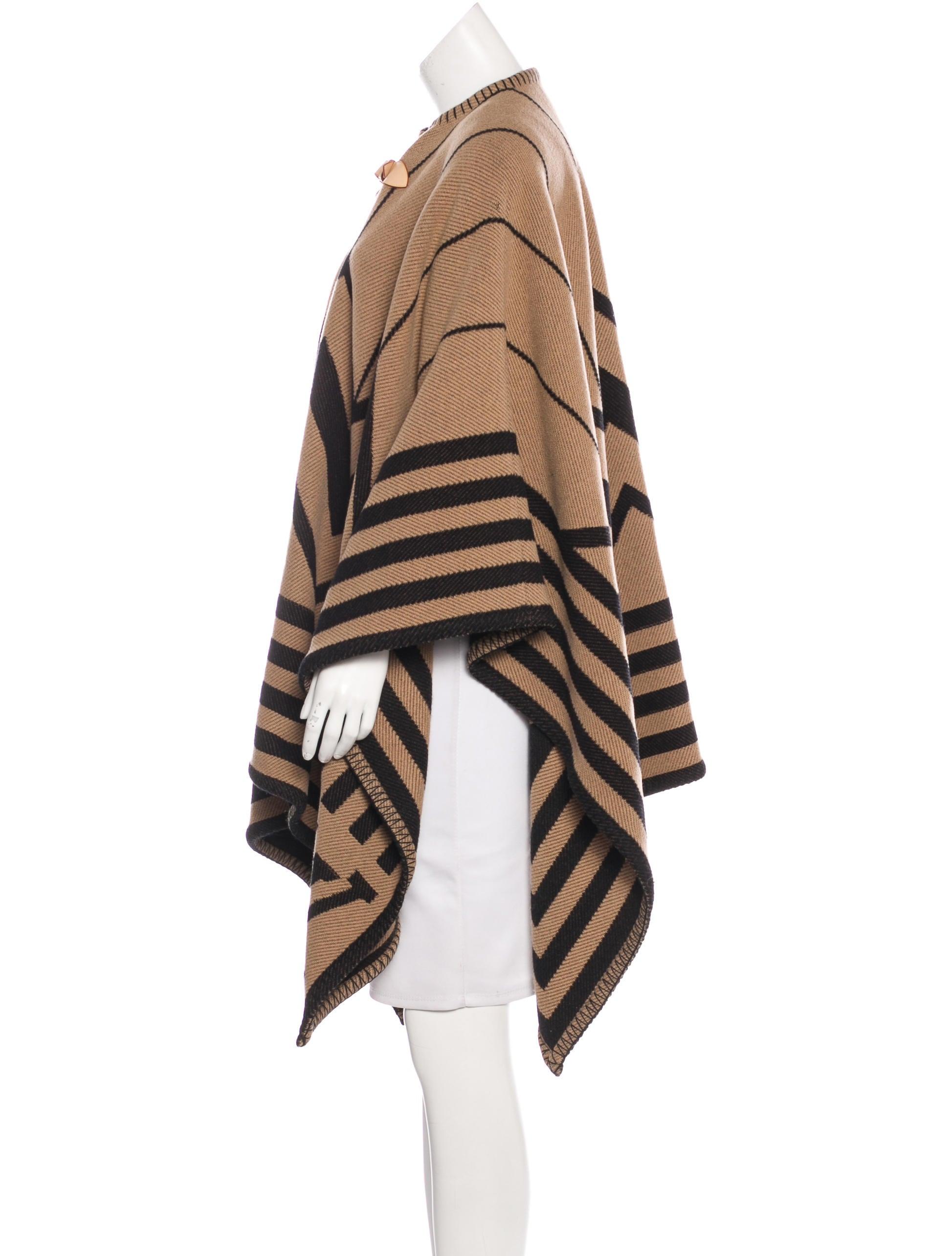 Book Cover Pattern Wool Cashmere Poncho : Louis vuitton karakoram cashmere wool blend poncho