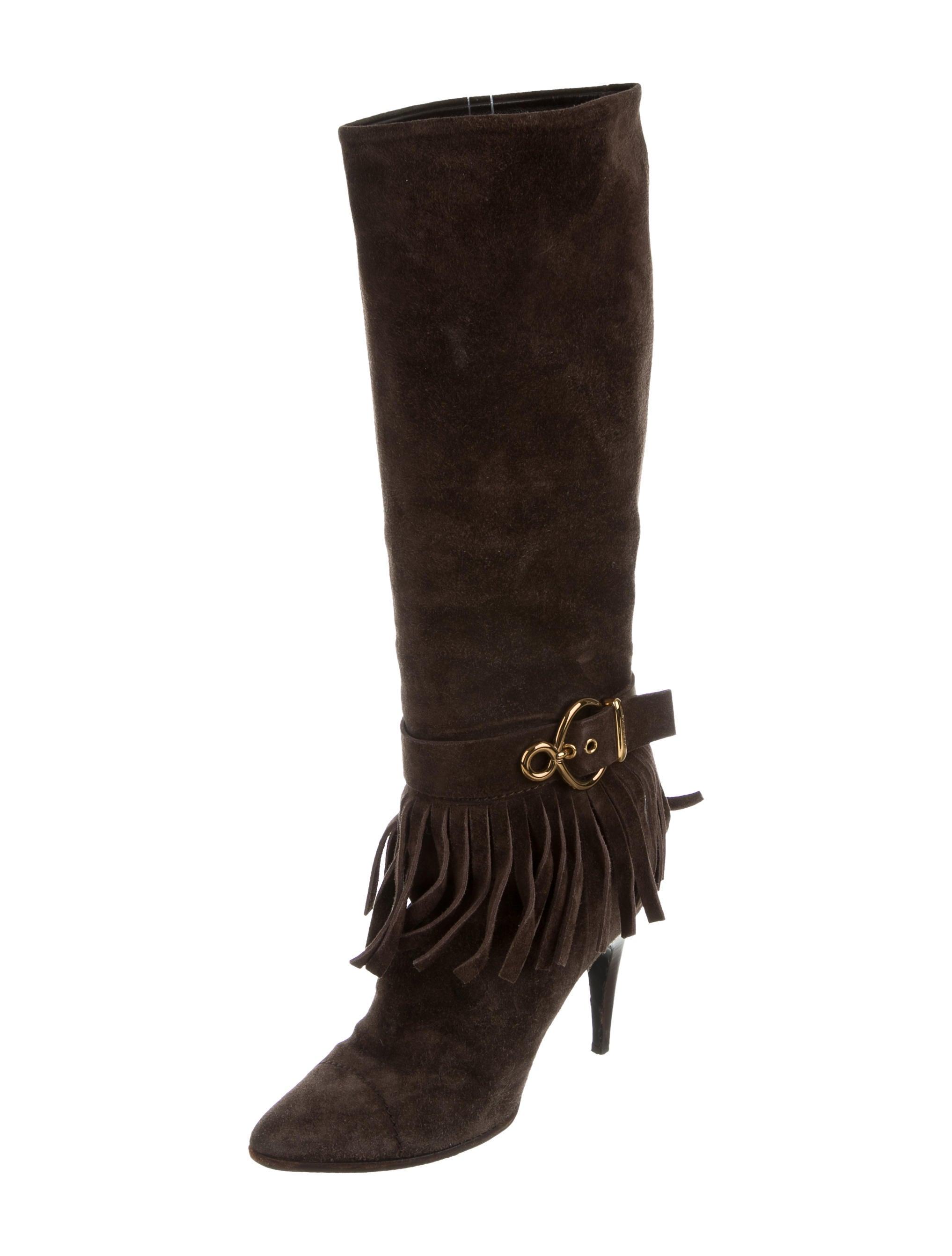 louis vuitton suede fringe boots shoes lou107291 the