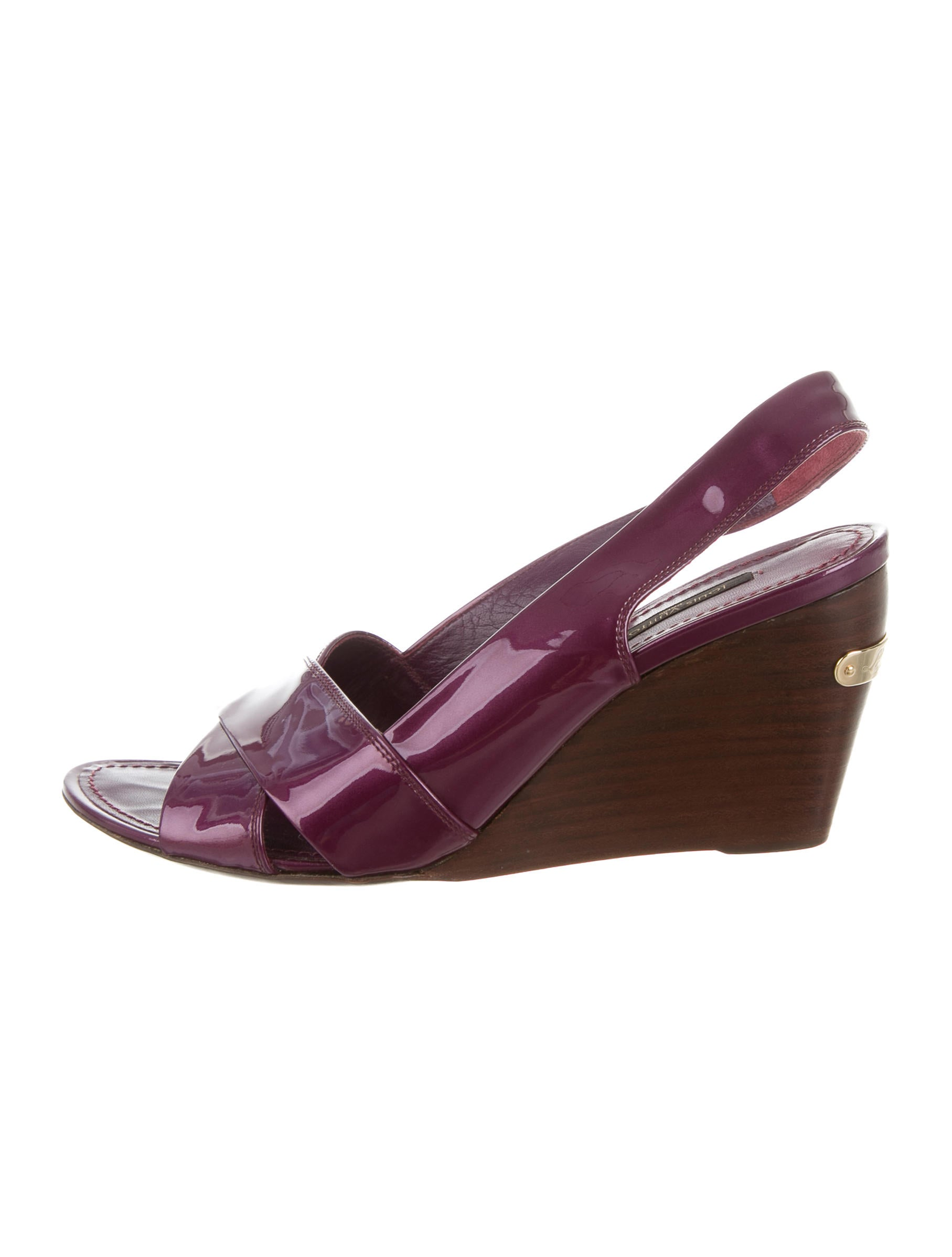 louis vuitton slingback wedge sandals shoes lou107335