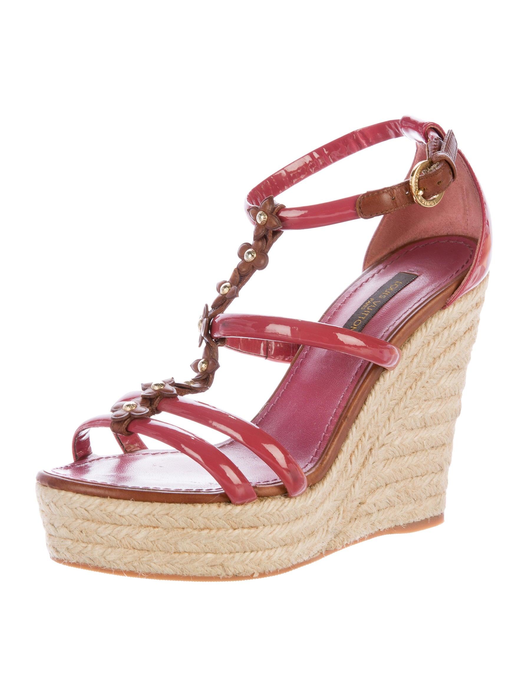 louis vuitton espadrille wedge sandals shoes lou107348