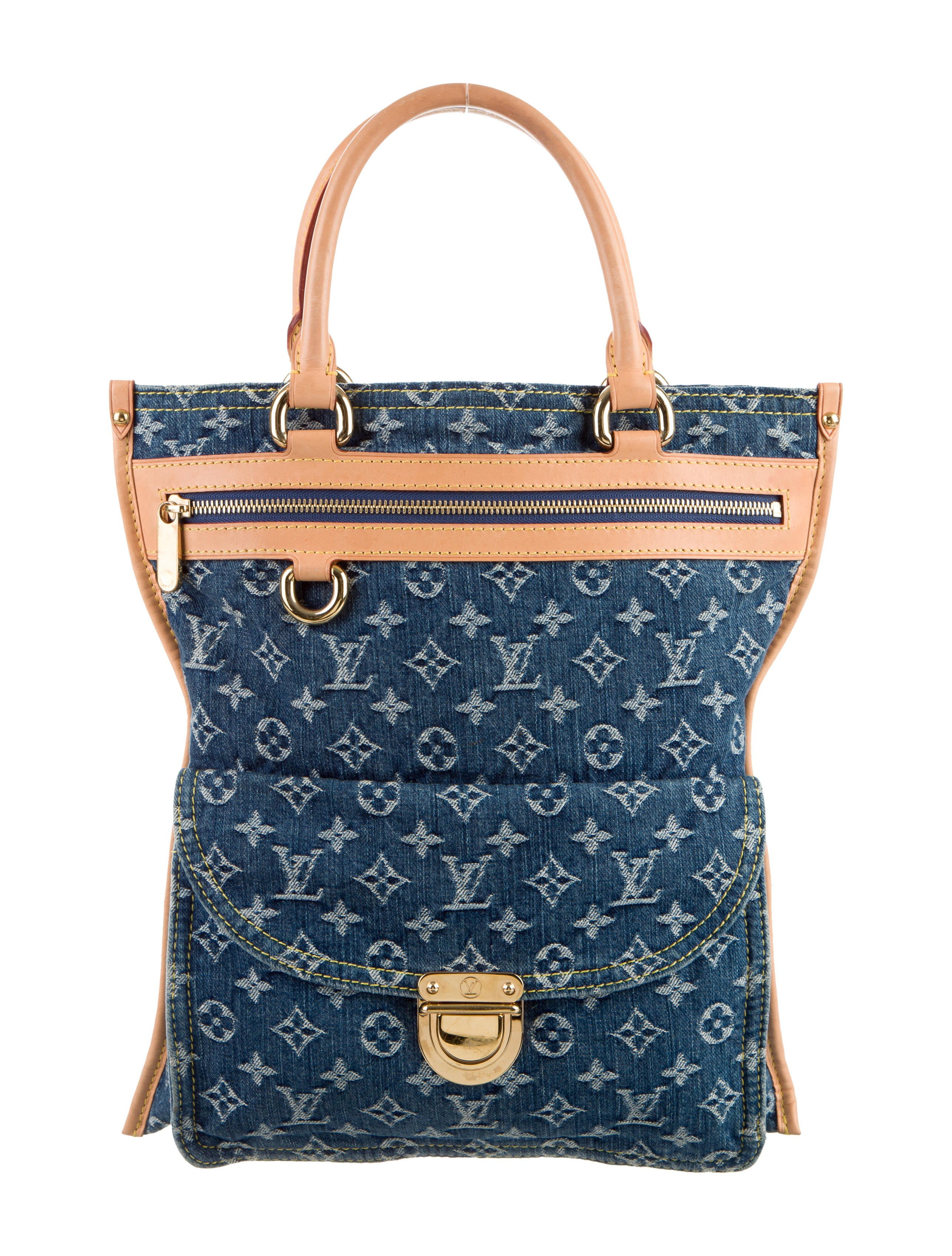 Louis vuitton monogram denim sac plat handbags for Louis vuitton monogram miroir sac plat