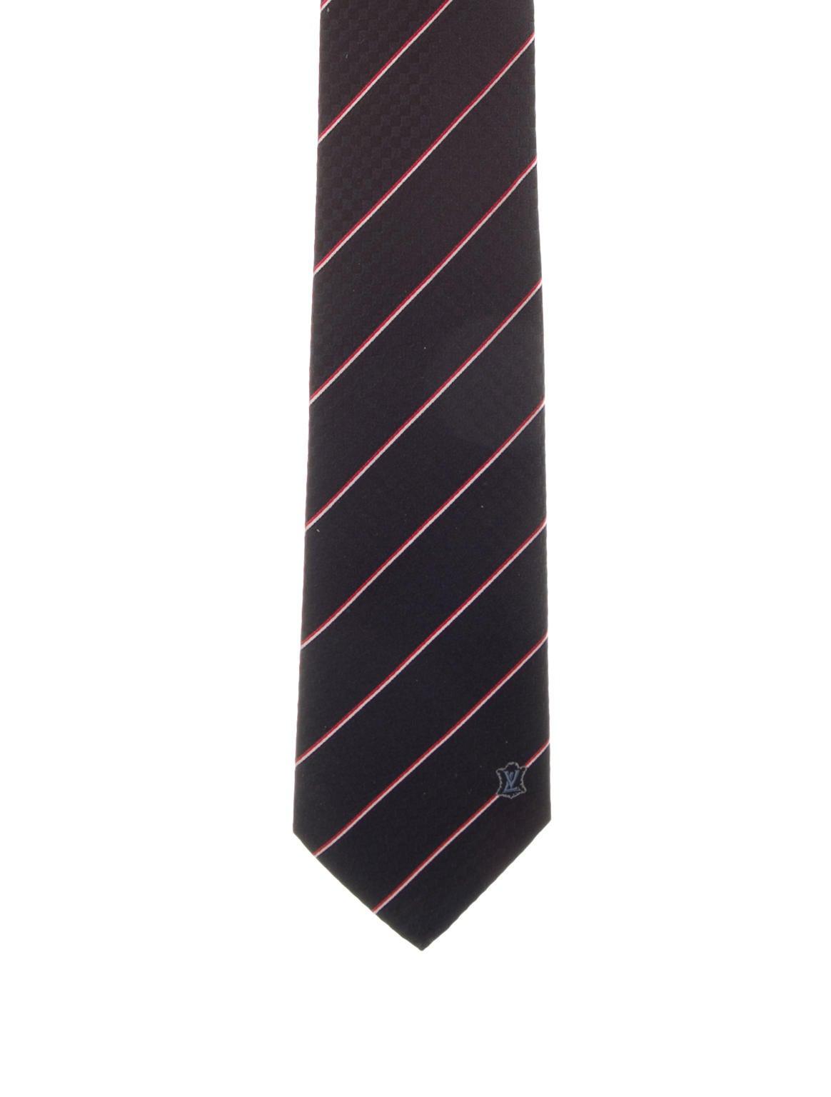 louis vuitton damier silk tie w tags suiting