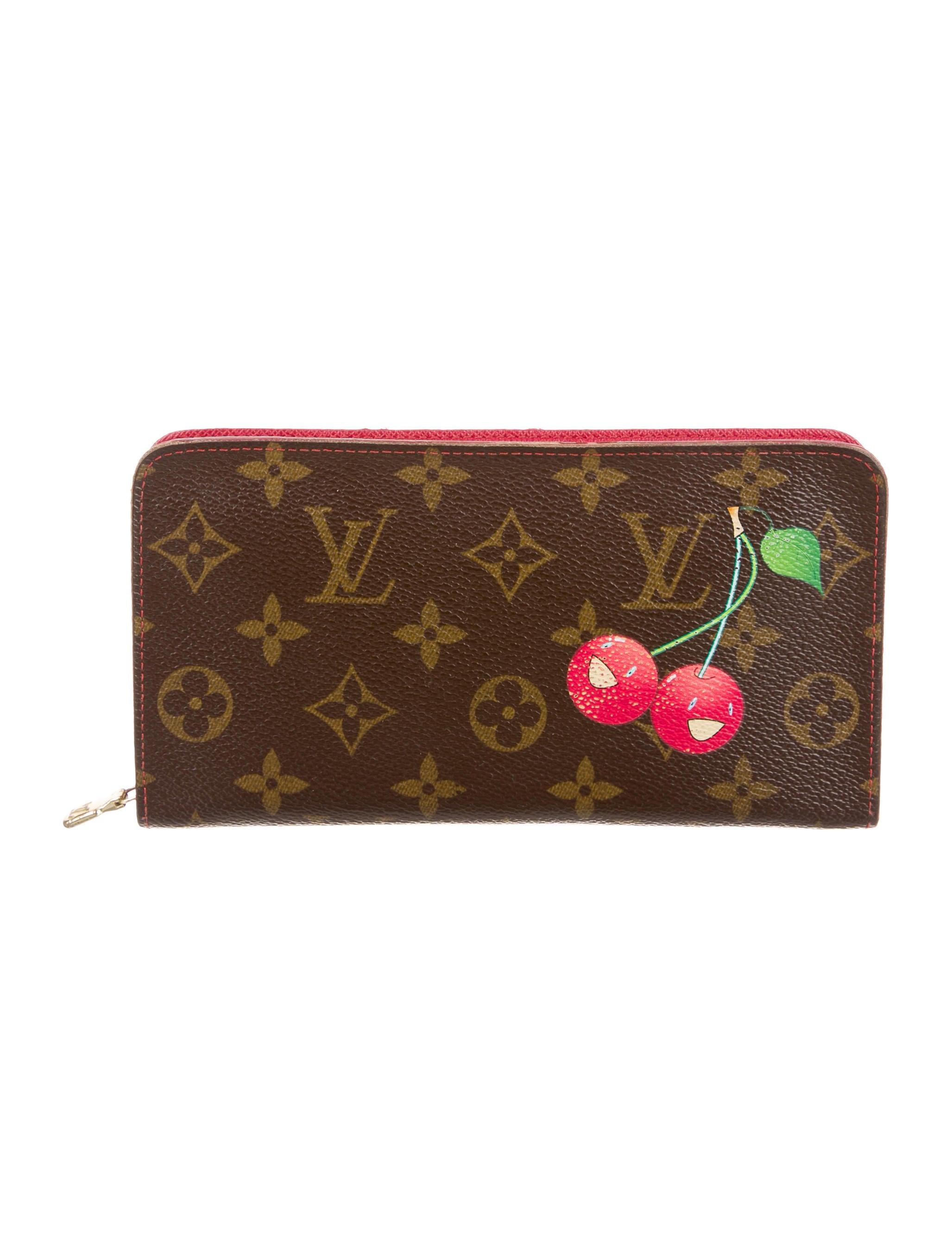 Louis vuitton monogram cerises porte monnaie zippy wallet for Porte monnaie