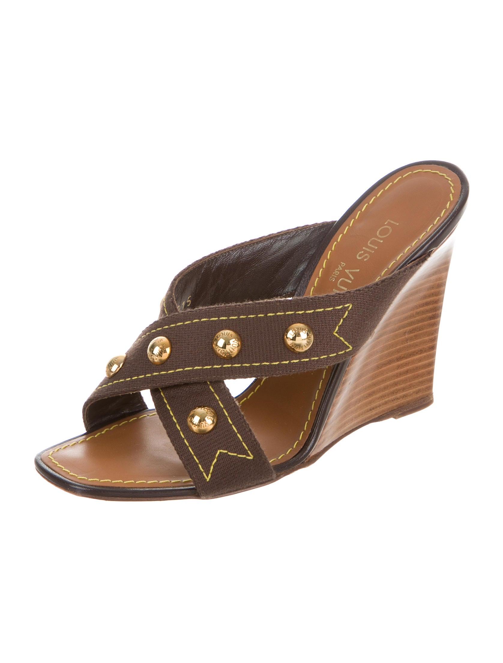 louis vuitton studded wedge sandals shoes lou108678