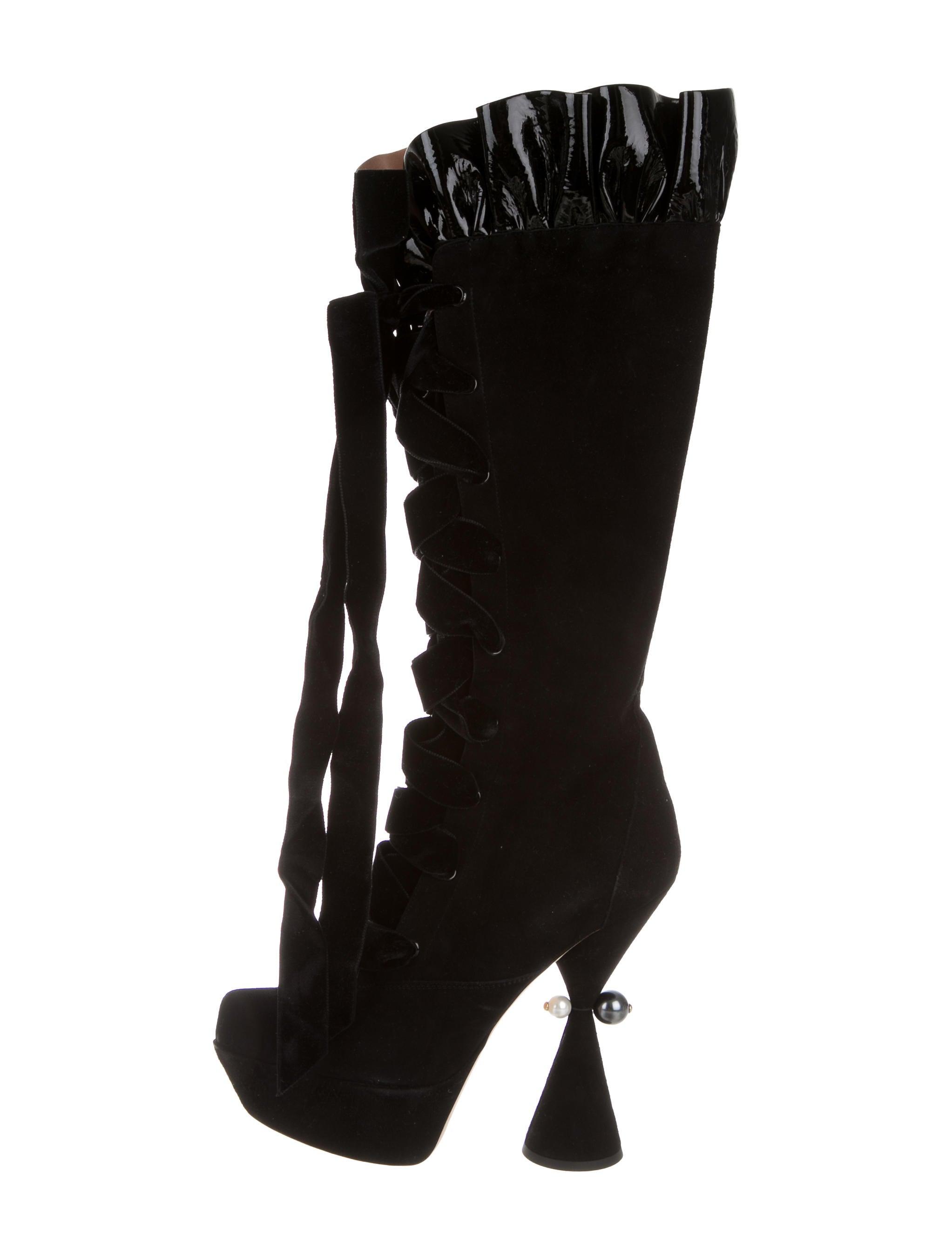 ee4a2f361d2 Louis Vuitton Suede Cancan Boots - Shoes - LOU108736