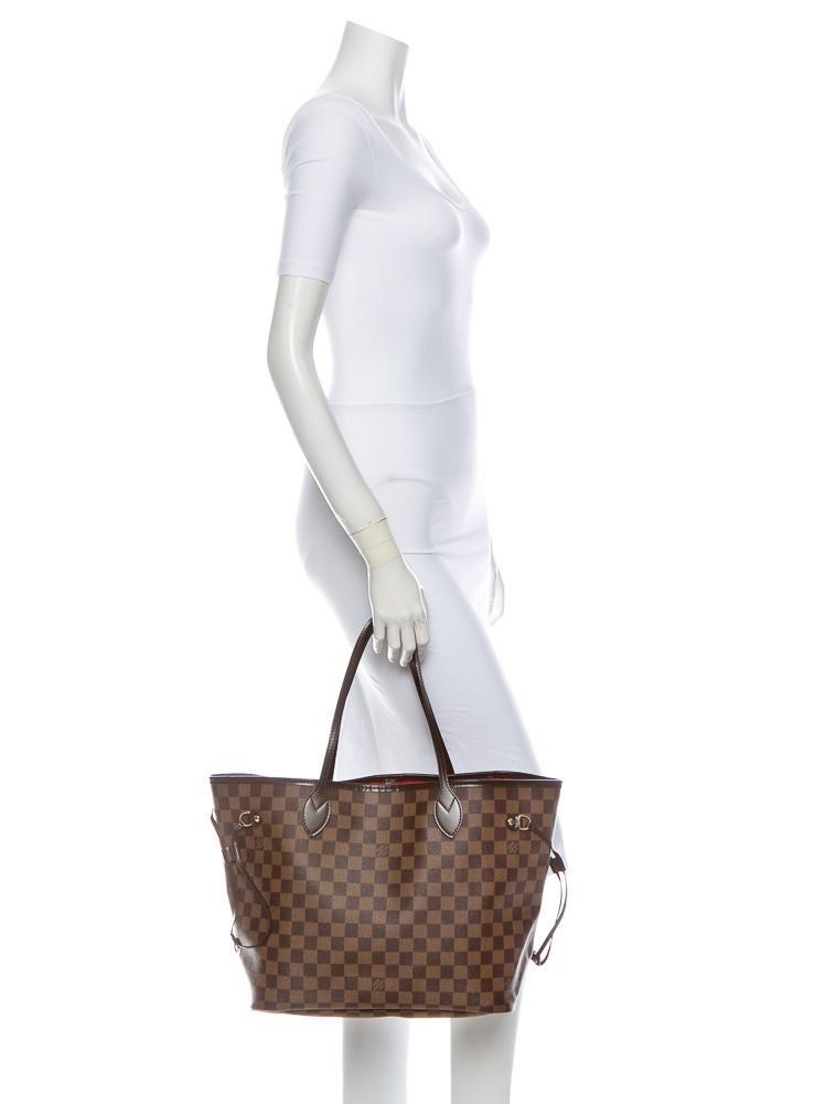 Louis Vuitton Damier Ebene Neverfull Mm Handbags Lou10889 The Realreal