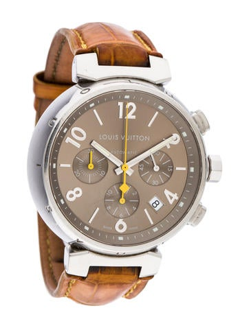 Louis Vuitton Tambour Watch w/ Alligator Strap None
