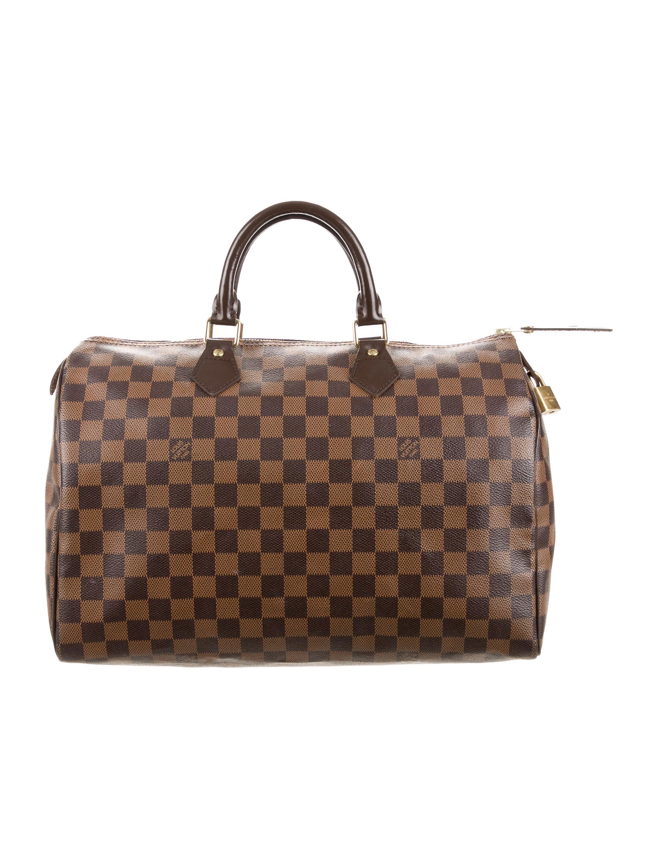 louis vuitton damier ebene speedy 35 handbags. Black Bedroom Furniture Sets. Home Design Ideas